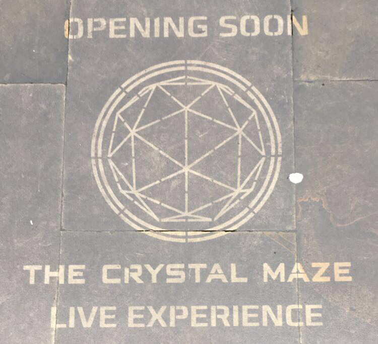CRYSTAL MAZE GRAFFITI TREASURE HUNT